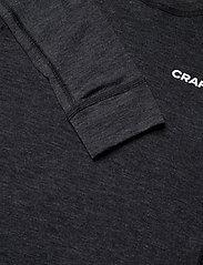 Craft - CORE WOOL MERINO SET W - underställsset - black melange - 4