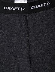 Craft - CORE WOOL MERINO SET W - underställsset - black melange - 5