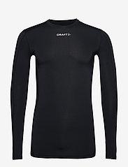 Craft - PRO CONTROL COMPRESSION LONG SLEEVE UNISEX - bluzki z długim rękawem - black - 0