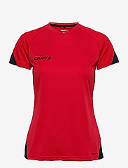 Craft - Pro Control Impact SS Tee W - t-shirts - red/black - 0