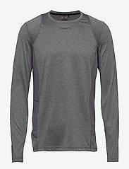 Craft - ADV ESSENCE LS TEE M - langarmshirts - dk grey melange - 0