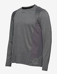 Craft - ADV ESSENCE LS TEE M - langarmshirts - dk grey melange - 2
