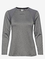 Craft - ADV ESSENCE LS TEE W - bluzki z długim rękawem - dk grey melange - 0