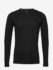 Craft - FUSEKNIT LIGHT RN LS M - bluzki z długim rękawem - black - 0