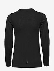 Craft - FUSEKNIT LIGHT RN LS W - bluzki z długim rękawem - black - 1
