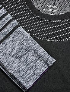 FUSEKNIT COMFORT BLOCKED RN LS W - thermo ondershirts - black-logan