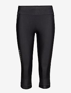 GRIT CAPRI W BLACK  - löpnings- och träningstights - black