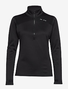 PIN HALFZIP W - BLACK