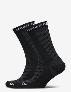 WARM MID 2-PACK SOCK - regular socks - black/white