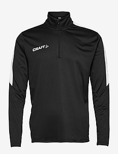 Progress Halfzip LS Tee M - mid layer jackets - black/white