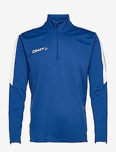 Progress Halfzip LS Tee M - mid layer jackets - royal blue