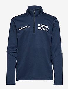 Royal Run Halfzip Junior - sweatshirts - navy