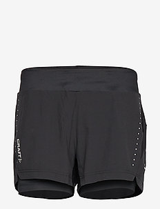 ESSENTIAL 2-IN-1 SHORTS W - BLACK