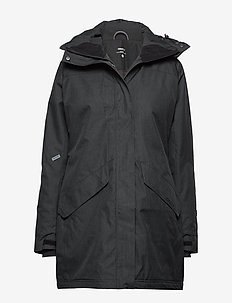 MOUNTAIN PADDED PARKAS W - BLACK MELANGE