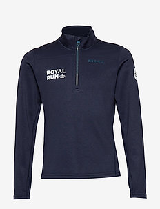 PIN HALFZIP Junior - langærmede t-shirts - fjord/maritime
