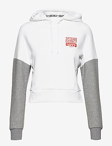 District Hoodie W - crop tops - white