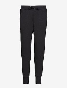 District crotch sweat pants W - BLACK