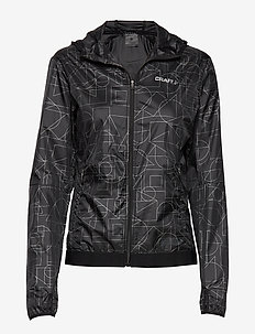 LUMEN WIND JKT W - P SHAPES/BLACK