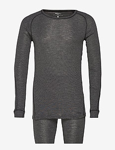 MERINO 180 SET M - BLACK MELANGE