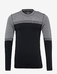 WARM INTENSITY CN LS M - BLACK/BLACK MELANGE