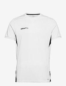 Pro Control Impact SS Tee M - sportoberteile - white/black