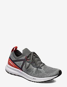 FUSEKNIT X M - buty do biegania - grey/shock