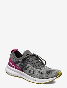 FUSEKNIT X W - running shoes - grey/indigo