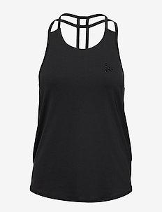 UNMTD STRAP SINGLET W - tank tops - black