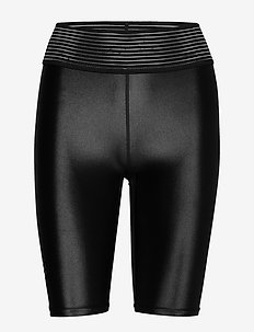 UNMTD SHINY SHORT TIGHTS W - löpnings- och träningstights - black