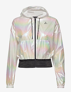 UNMTD SHINY HOOD JKT W - training jackets - silver