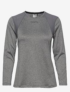 ADV ESSENCE LS TEE W - bluzki z długim rękawem - dk grey melange