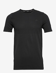 FUSEKNIT LIGHT RN SS M - topy sportowe - black