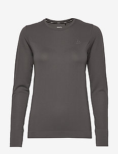 FUSEKNIT LIGHT RN LS W - langarmshirts - granite