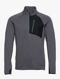 CORE Trim Thermal midlayer M - mid layer jackets - dk grey melange