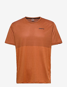 CORE SENCE STRUCTURED TEE M - t-shirts - buff/black