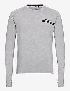 CORE SENCE LS TEE M - langarmshirts - grey melange