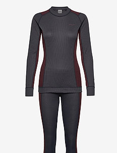 CORE DRY BASELAYER SET W - thermo ondergoedsets - asphalt/peak