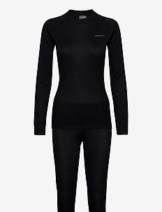 CORE DRY BASELAYER SET W - thermo ondergoedsets - black
