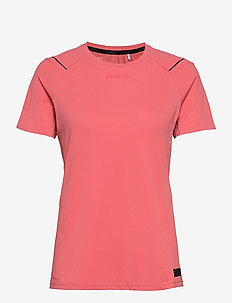 PRO HYPERVENT SS TEE W - t-shirts - coral