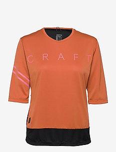 Core Offroad XT SS Jersey W - t-shirts - terracot-black