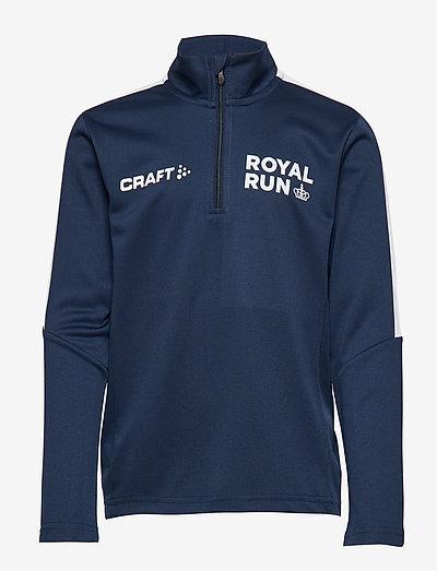 Royal Run Halfzip Junior - langærmede t-shirts - navy
