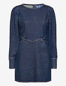 Fannycras dress - jeansklänningar - light blue