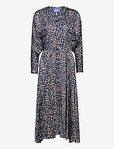 Zoecras dress - midiklänningar - blue leo