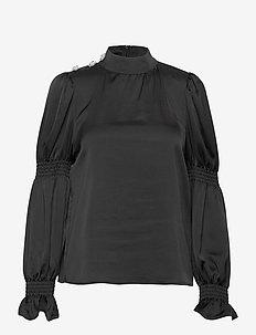 Tarocras blouse - långärmade blusar - black