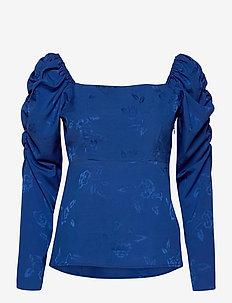 Lisacras Blouse - långärmade blusar - mazerine blue
