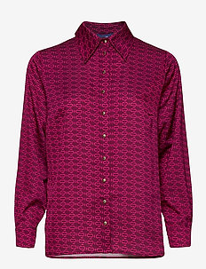 Laicras Shirt - långärmade skjortor - plum monogram
