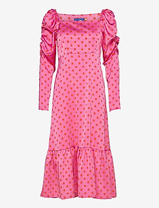 Pilcras Dress - midiklänningar - dotty pink