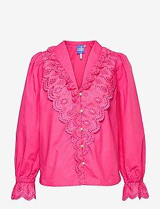 Ofeliacras Shirt - långärmade blusar - fandango pink