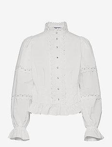 Alexacras Shirt - långärmade blusar - white
