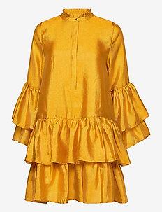 Alfridacras dress - skjortklänningar - golden yellow